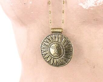 Tibetan Sun Necklace