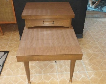 Mid Century Mersman Two-Tier End Table