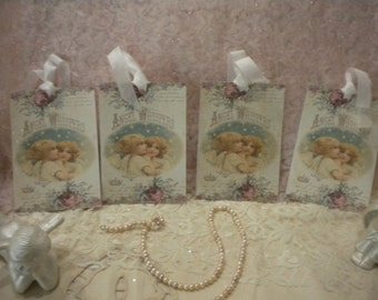 """Hanging Tags """"Angel Whispers"""" (4)"""