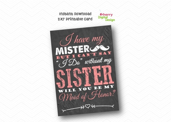 PRINTABLE I Have My Mister But I Can't Say I Do Without My