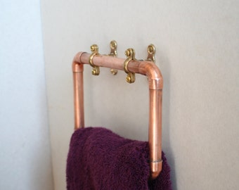 Copper pipe towel ring