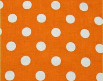 Orange White Large Big Polka Dot circle Window Curtain  Valance