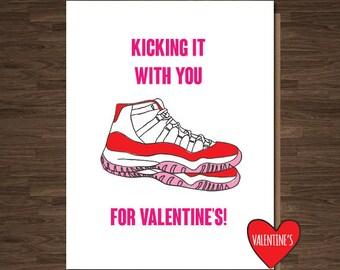 Funny Valentines Cards, Valentine's Card, For Her, Love Cards, Jordans