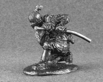 Ninja Action Figurine Shinobi 1/32 Scale Toy Soldiers Collection 54mm Tin Metal Miniature Antique
