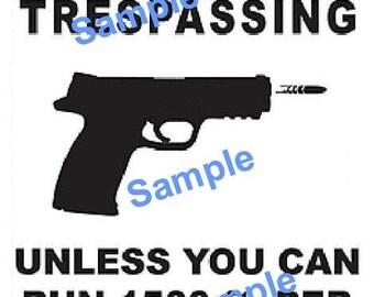 No trespassing SVG