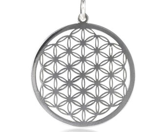 Sacred geometry: Flower of Life pendant in sterling silver