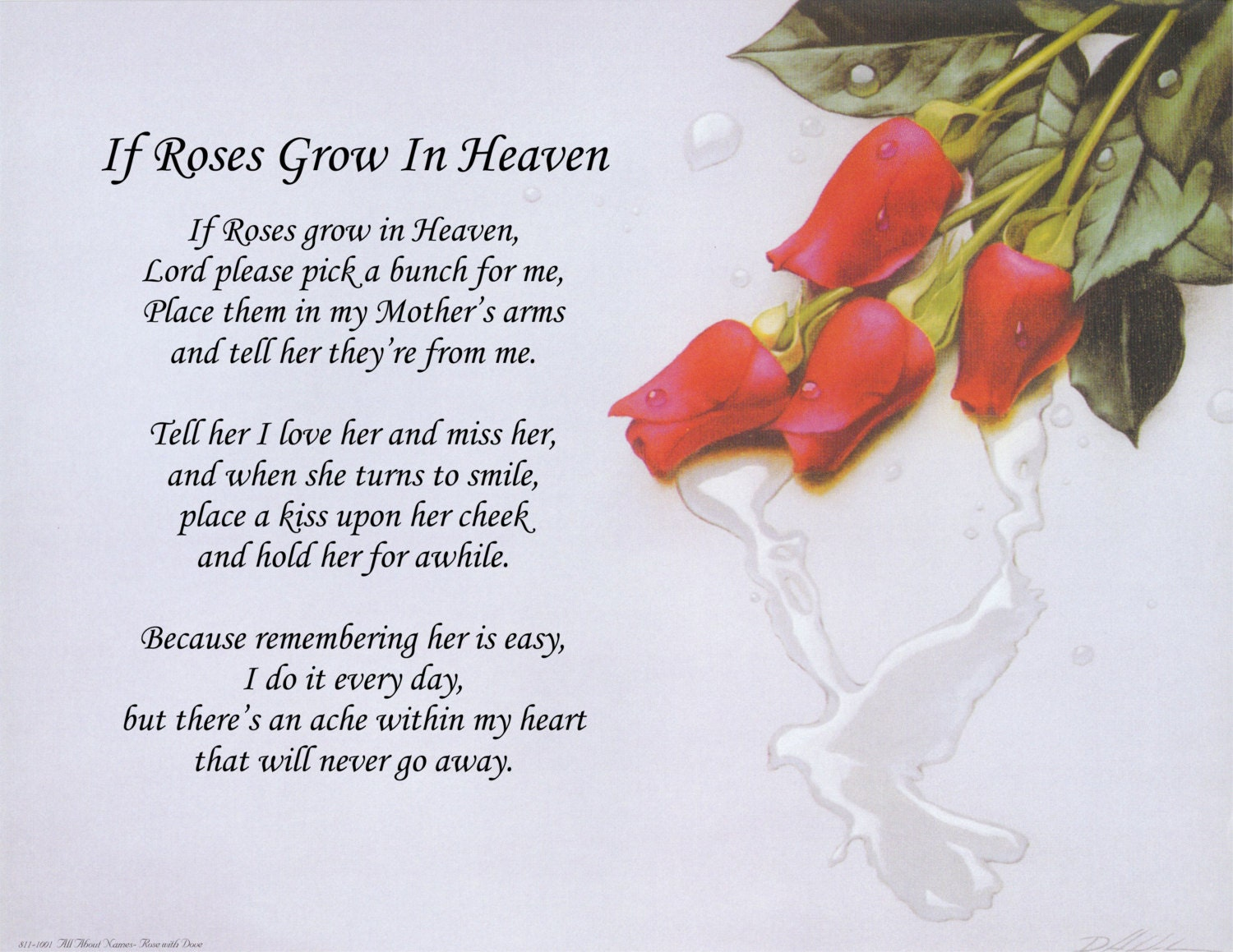 happy valentines day dad poems - Poem If Roses Grow In Heaven