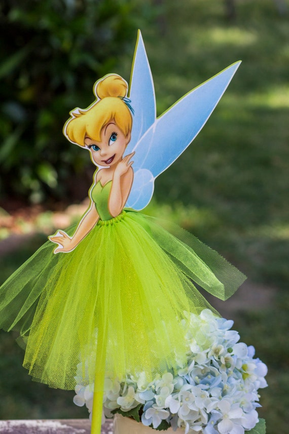 Items Similar To Tinkerbell Wood Centerpiece With Tutu For Birthday Party Cake Table Guest Table Decoration Party Favor Box Home Decor On Etsy