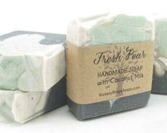 Handmade Soap with Coconut Milk - Fresh Pear, Homemade Soap, Natural Soap, Vegan Soap, Cold Process Soap,  Bar Soap, Bath Soap, Shea Butter