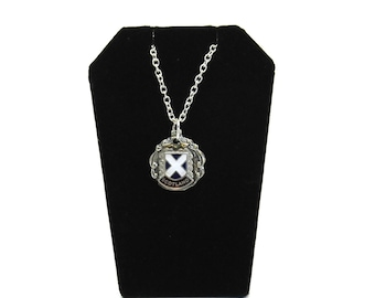 scotland necklace, scottish necklace, st.andrew's cross necklace