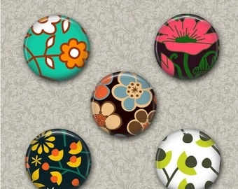 80 % off SaLe Flower Power - 12 mm Cabochon Images Digital Collage Sheet Flower Digital Round Images for Ring Earrings Hairclips