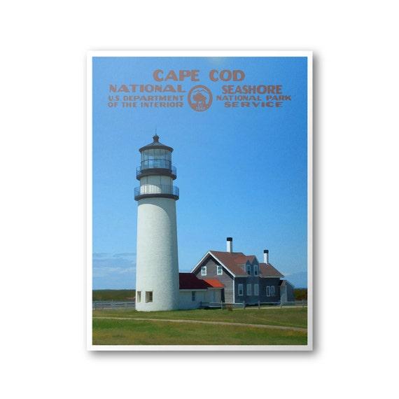 Cape Cod National Sea Shore: Cape Cod National Seashore Travel Poster