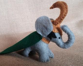 Felt Loki Elephant Marvel Fandom Plush Loki Inspired