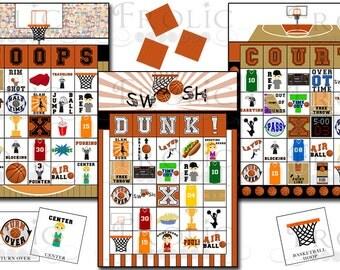 SALE!!! Basketball Bingo 30 Printable Cards INSTANT DOWNLOAD