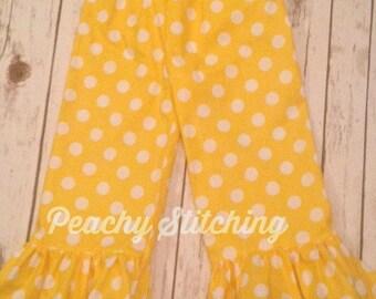 Yellow Ruffle Pants