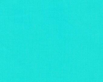 Kona Cotton Pool by Robert Kaufman, K001-45, aqua, turquoise, teal, green, blue, ocean, bright blue, Caribbean blue, quilting cotton