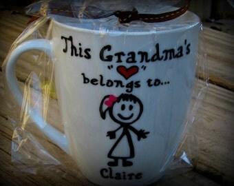 Grandma Mug, Grandma gift, Grandmother mug, Grandmother gift, Grandpa mug, Grandfather gift, Grandfather mug, Grandparent mug
