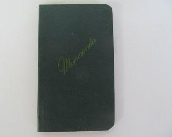 Vintage Military Note Pad / book  -  70's item unused  - hard cardboard  outside