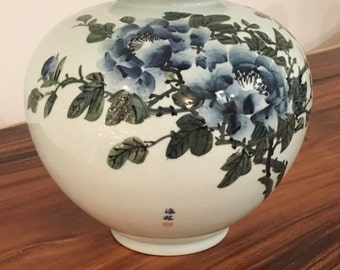 Vintage Beautiful Celadon Korean Vase Pottery-Handmade
