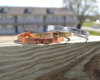 Customizable Cuff, Customizable Bracelet, Engraved Bracelet, Personalized Engraved Bracelet, Rose Gold Personalized Bracelet, Bracelet, Cuff