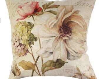 Vintage Flower Bouquet - Pillow Cover