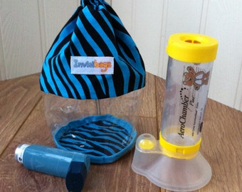 Invisibags - Asthma Inhaler and Spacer See-through Invisibag Bag