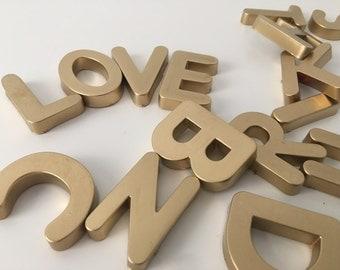 Golden ABC Magnet Letters