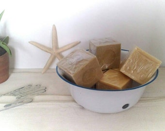 SPECIAL OFFER »» 3 cubes for 10GBP. Savon de Marseille,  French soaps, Rustic, Handmade, Natural, Palm oil, Olive oil