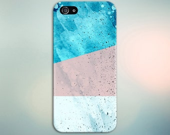 Pink Blue White Geometric Splash Phone Case,iPhone 7, iPhone 7 Plus, Tough iPhone Case, Galaxy s8, Samsung Galaxy Case, Note 5, CASE ESCAPE