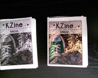 KZine Micro, numero 1, Microzine, Zine, arti Zine, edizione limitata di 20