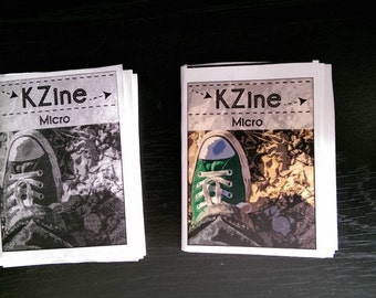 KZine Micro, Issue 1, Microzine, Zine, Arts Zine, Limited Edition of 20