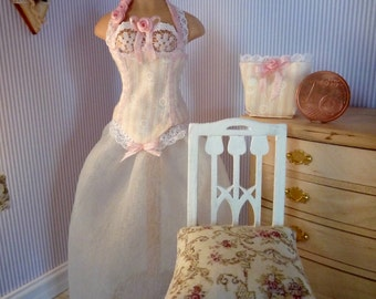 Ball gown in 1:12 scale