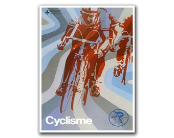 Retro Bicycle Poster Vintage Bike Decor Cycling Poster Racing Print (H309)