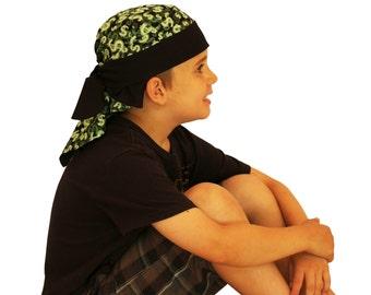 Jon's Children's Doo Rag - A Reversible Bandana, Cancer Headwear, Chemo Hat, Alopecia Scarf, Head Cover, Hair Loss - Money