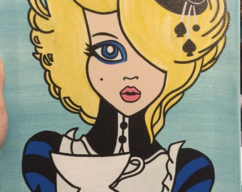 Canvas painting Alice in Wonderland