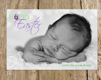 Easter Holiday Photo Greeting Card