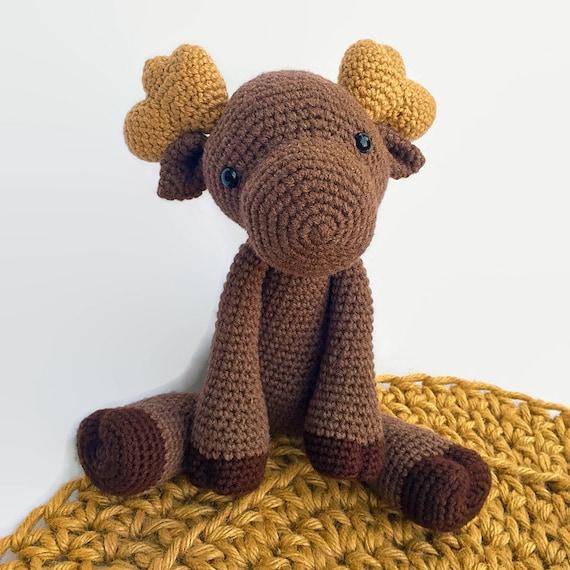 Moose Plush // Amigurumi Crochet Stuffed Animal // Woodland