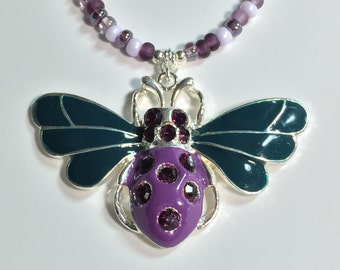 Beauty and the Beetle Necklace