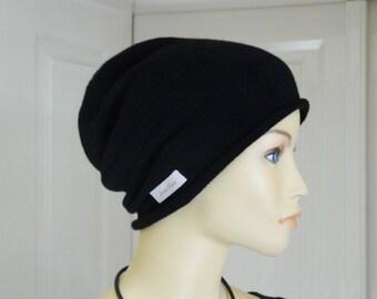 "Beanie cap ""Chris"", warm, knitwear, handmade, 100 % Cashmere, present for her, present for him"