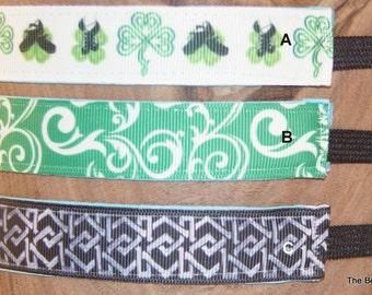 Headband- Irish Dance- St Patrick's Day- Stretch Headband- athletic headband- ghillie- dance accessory- gift for girl- Irish gift- Celtic