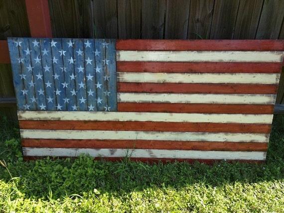 "LARGE American flag (32""x58"")"
