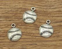 20pcs Baseball Charms Antique Silver Tone Sports Charms 18x14mm 1618