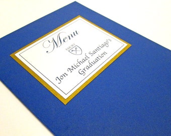 Graduation Menu Booklet, College Graduation Party Decorations, High School Graduation Decorations, Class of 2016, Table Decorations