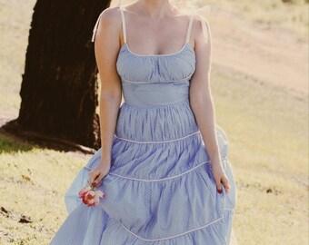 Marilyn Monroe Blue pinup Retro Dress - Vintage Reproduction