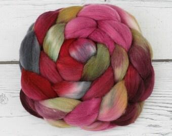 Polwarth - Tussah Silk  Spinning Fiber  - Time Warp