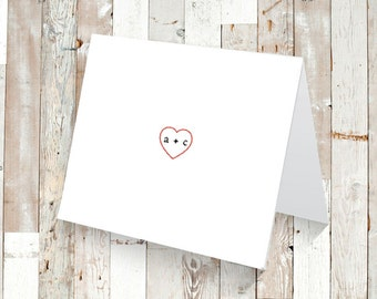 Set of 12 or 25 PERSONALIZED Heart Stationary