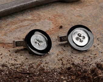 Men's Button Cufflinks by KAVALRI