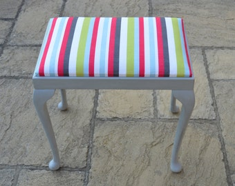 Beautifully restored and reupholstered Victorian Piano Stool