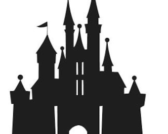DISNEY CASTLE SILHOUETTE Vinyl Decal Sticker Car Window Laptop Wall Choose Size and Color