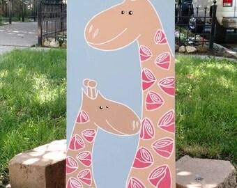 Giraffes Canvas Nursery Art